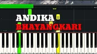 Lagu Nasional Andika Bhayangkari Belajar Piano Pianika Keyboard