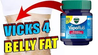 How to Use Vicks Vaporub To BURN BELLY FAT | Cellulite Fast & Quickly