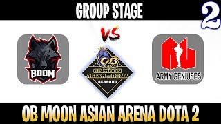 BOOM vs Army Geniuses Game 2 | Bo2 | Group Stage OB Moon Asian Arena Season 1