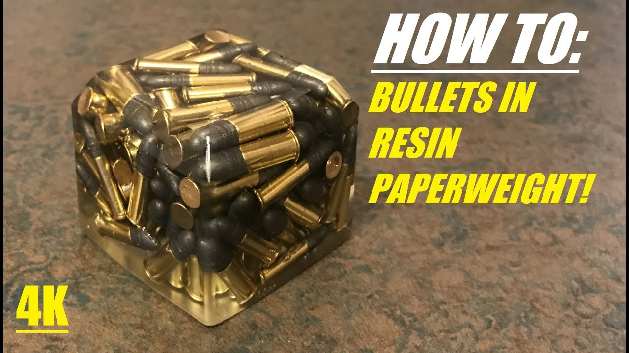 HOW TO Cast Bullet in Resin Epoxy Paperweights! 4K - YouTube