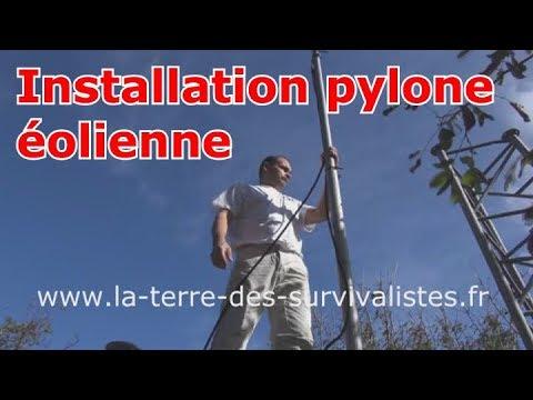 217 - Installation de mon pylône d'éolienne (vidéo horrible)....