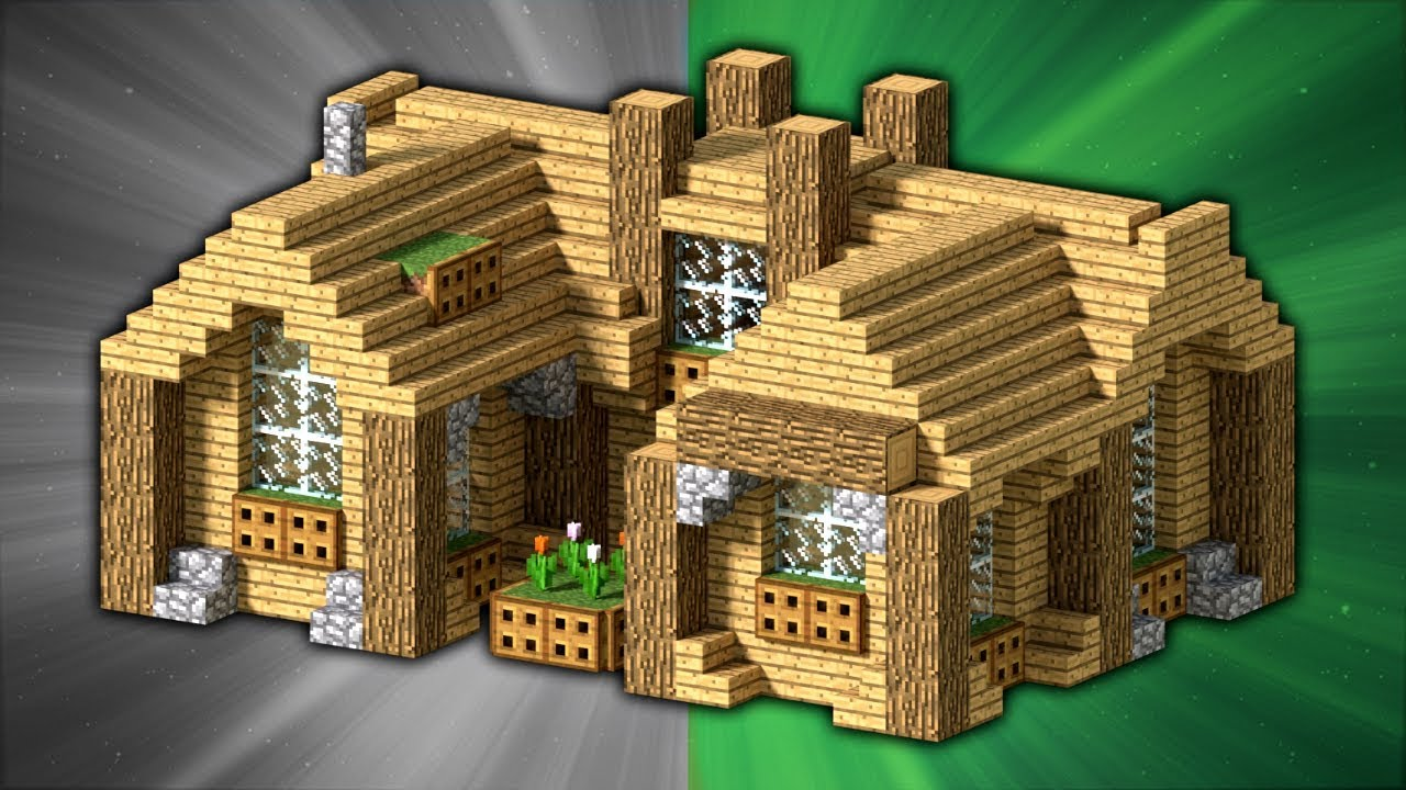 how to build a starter house minecraft youtube. Black Bedroom Furniture Sets. Home Design Ideas