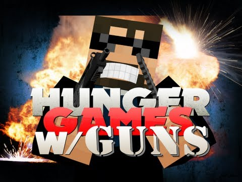 Minecraft Hunger Games with GUNS!! RPG TO THE FACE!!