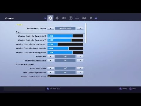 Best Console Controller Settings For Season 7 Fortnite Ps4 Xbox Youtube