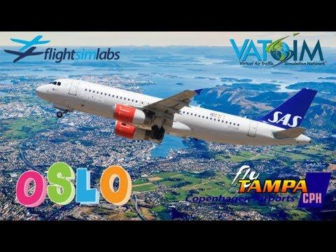 FSlabs A320 On Vatsim. Oslo To Copenhagen