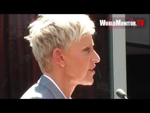 Ellen DeGeneres speech during her star ceremony on the Hollywood Walk of Fame