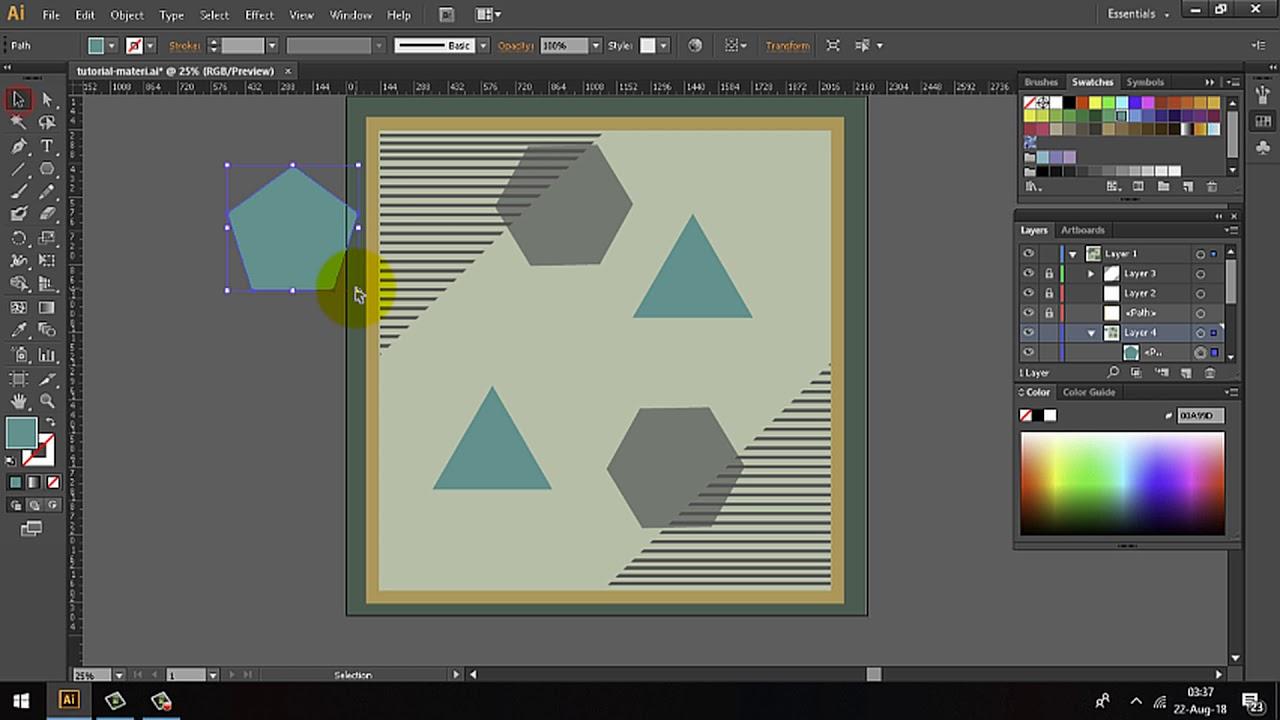 Desain Hijab Adobe Illustrator - Membuat Shapes / Pola-pola Bentuk