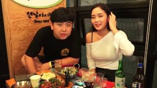 160902 [3] 여캠BJ 핸콕과 홍대에서 달달한 생일파티 - KoonTV