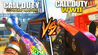 AW BLUNDERBUSS vs COD WW2 BLUNDERBUSS! (DLC WEAPON SHOWDOWN)