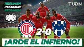 Resumen y goles | Toluca 2 - 0 Monterrey | Liga Mx - CL 2020 - J8 | TUDN