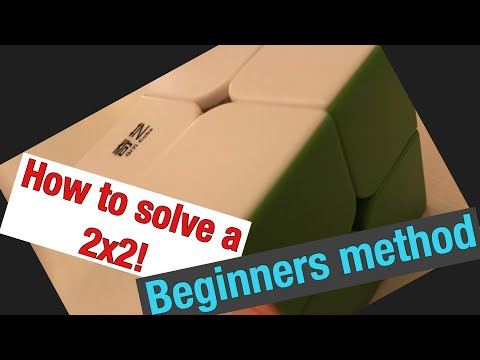 How to solve a 2x2 Rubik's cube with no algorithms