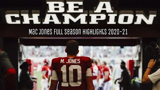 Mac Jones Full Season 2020-21 Highlights