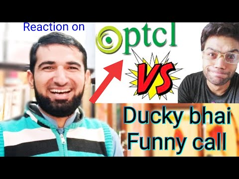 Reaction on Ducky bhai Ptcl Phone call gone very Funny | Ducky bhai | Fr Reaction Wall | Prank calls
