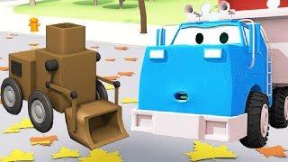 EL ROBOT !!! Equipo Constructor: Camión Volquete, la Grúa y la Excavadora en Autocity