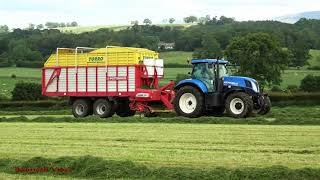 "Wagon Silage with New Holland and NEW Pottinger ""Torro""."
