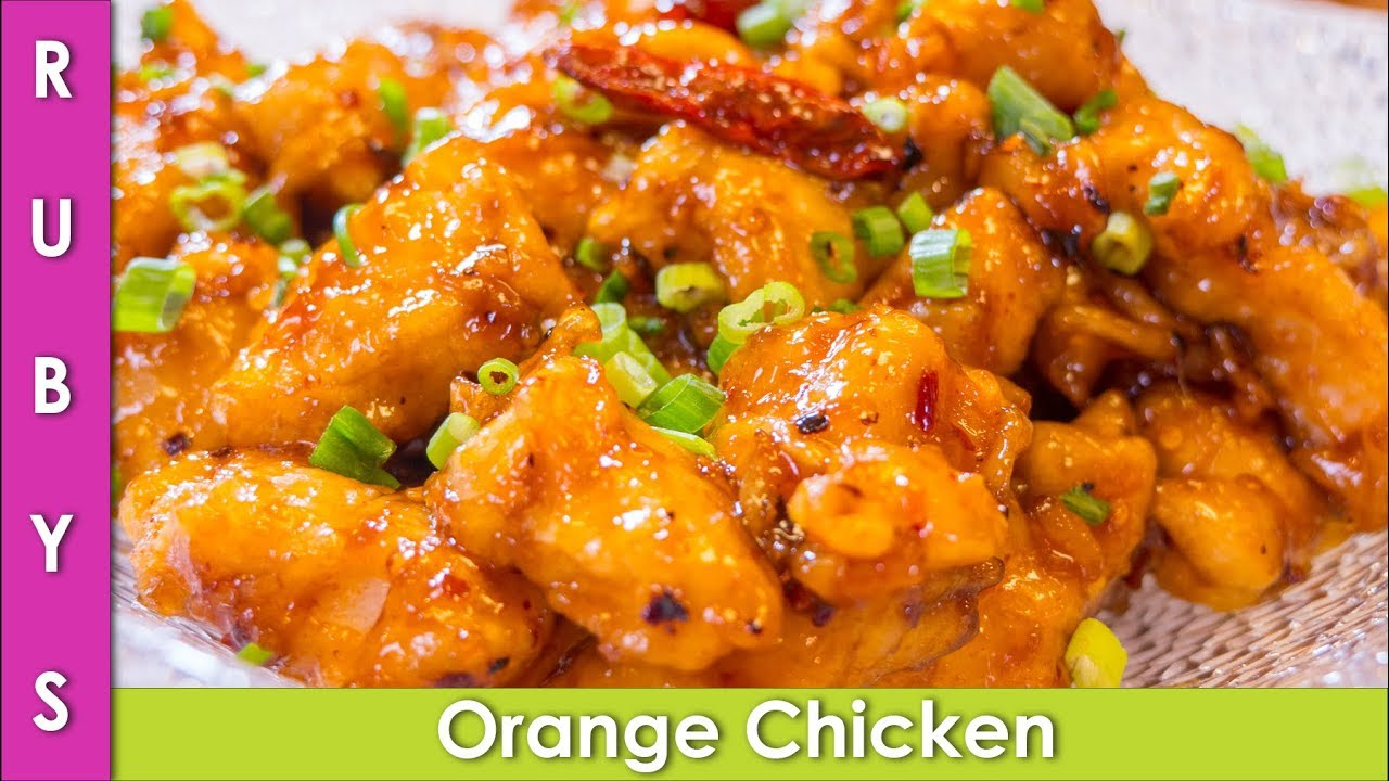 Orange Chicken Chinese Recipe In Urdu Hindi Rkk Youtube