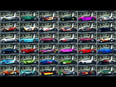 Asphalt 8, ALL A-CLASS CARS MAX PRO, ENGINES SOUNDS