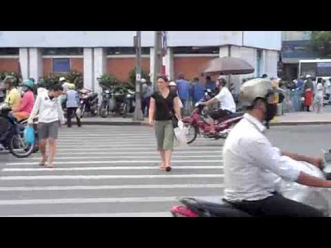 Culture Cut!  Crossing the Street in Ho Chi Minh City, Vietnam