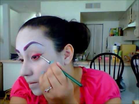 Theatre geisha Makeup - YouTube