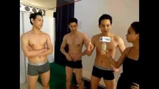 Repeat youtube video 2013MEN'S UNO超模大賽 男模們更衣人魚線大突擊
