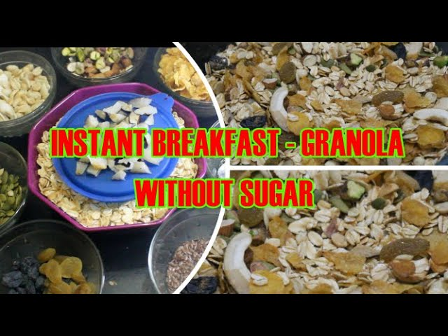 Mummy S Cooking Healthy Breakfast Granola Without Sugar Diabetic Or Weight Management Recipe New Cookery Recipes
