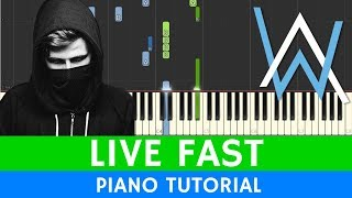 Alan Walker x A$AP Rocky - Live Fast (PUBGM) - PIANO