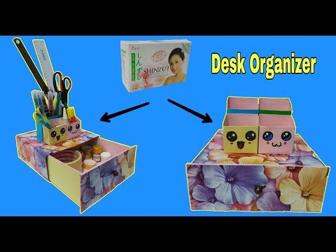 DIY | How to make Desk Organizer From Cardboard Box | Best out Of Waste Cradboard