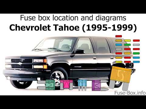 fuse box location and diagrams chevrolet tahoe (1995 1999 1999 Chevy Tahoe Engine Compartment Fuse Box