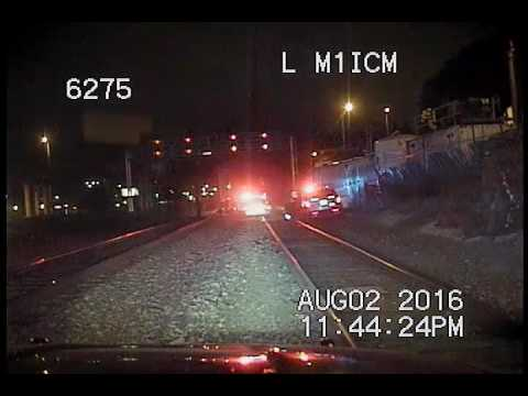 Seattle Police, chase on train tracks
