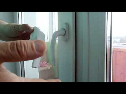Ручка для пластикового окна или Как самому поменять ручку на пластиковом окне или двери.