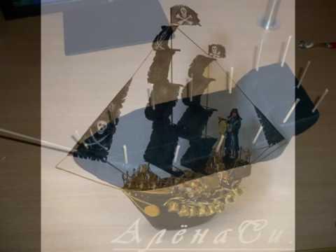 Вкусный торт Пиратский корабль