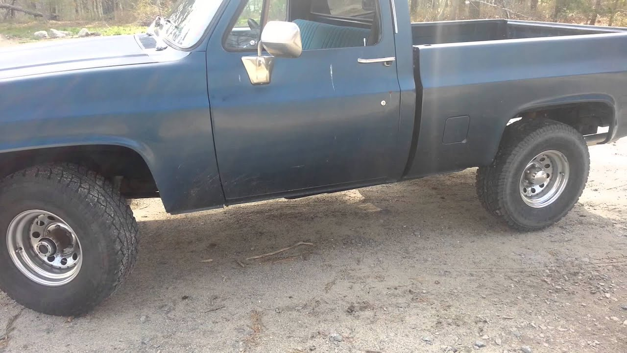 15 Inch Tires >> 1985 chevy k10 before 4 inch lift kit - YouTube
