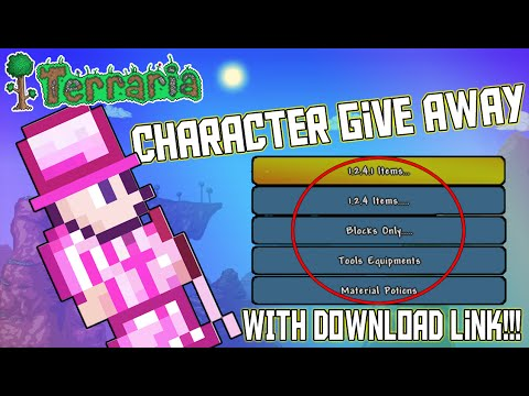 Terraria (Xbox 360/ONE) - MY Give Away Character - With DOWNLOAD LINK!! (FULL OF MODS)