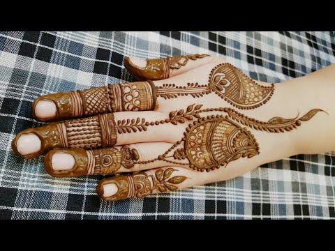 Holi Special Mehndi Design For Backside 2018 Heena Vahid Youtube