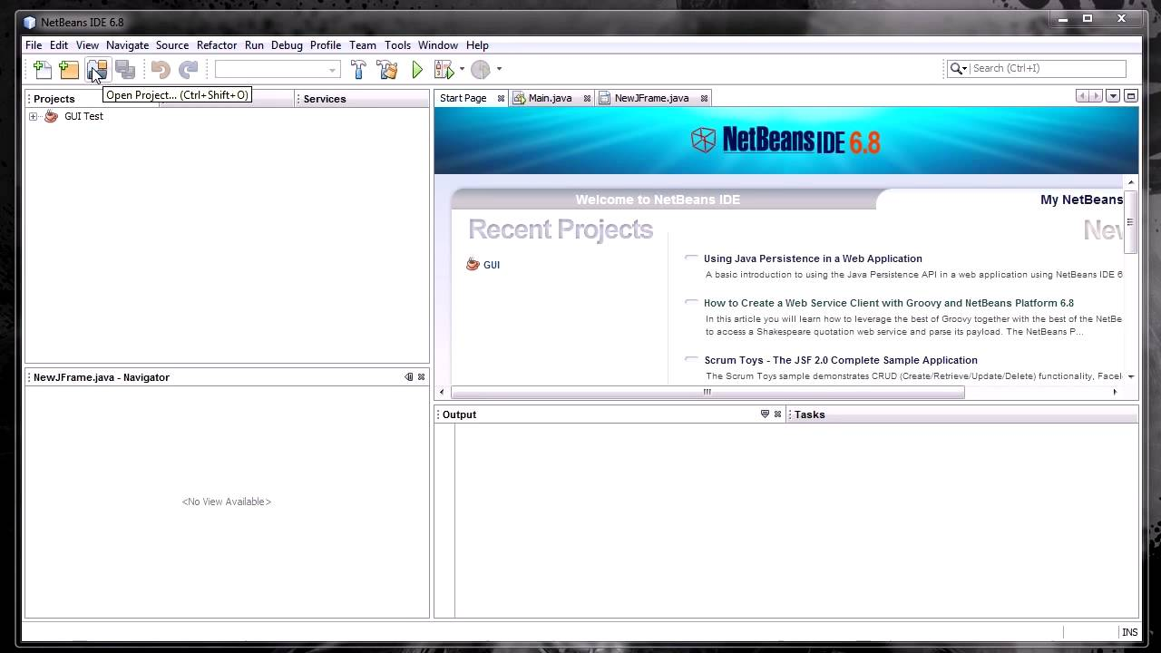 Netbeans Java GUI Builder Tutorial