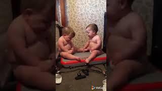 Kids enjoying  vibrator machine
