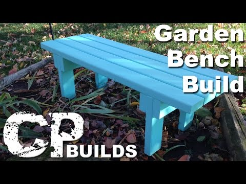DIY | How To Build A Simple Garden Bench | 2×4 Project