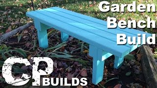Garden Bench Made Out Of 2x4's