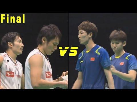 Takeshi KAMURA Keigo SONODA vs LI Junhui LIU Yuchen  - Badminton Asia Championships 2018 Final