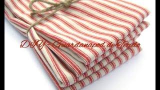 Guardanapo de tecido em 10 minutos por Rubia Rubita