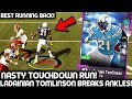 LADAINIAN TOMLINSON BREAKS PLAYERS ANKLES! MUST SEE TOUCHDOWN RUN! MADDEN 19 ULTIMATE TEAM