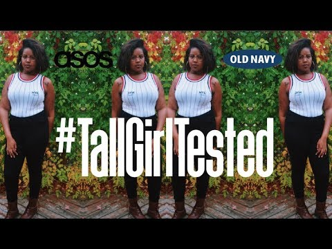 JEANS FOR LONG LEGS | ASOS  & OLD NAVY Try-on Haul |#TallGirlTested