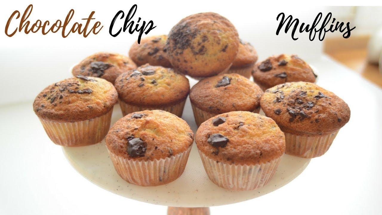Muffins Mit Schokostuckchen Rezept Chocolate Chip Muffins Selber