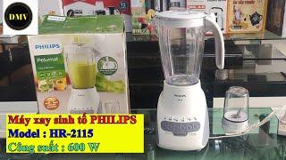 Máy xay sinh tố Philips Hr-2115 : Công suất 600W