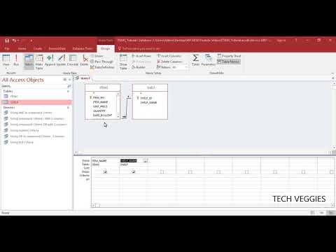 Using Two or more Tables in MS Query Design | Tech Veggies