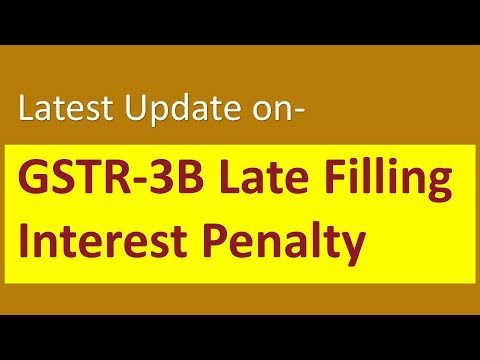 Latest press note- Tax payer dhyan de  GSTR-3B Late Filling Interest Penalty by CA Mohit Goyal