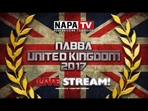 NABBA UNITED KINGDOM | BODYBUILDING LIVE STREAM | NAPA TV