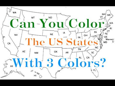 Can You Color all the US States with only 3 Colors?