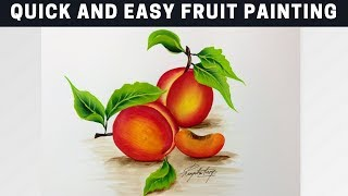 Quick and Easy Fruit Painting / Acrylic Painting for Beginners / Fall  / DIY