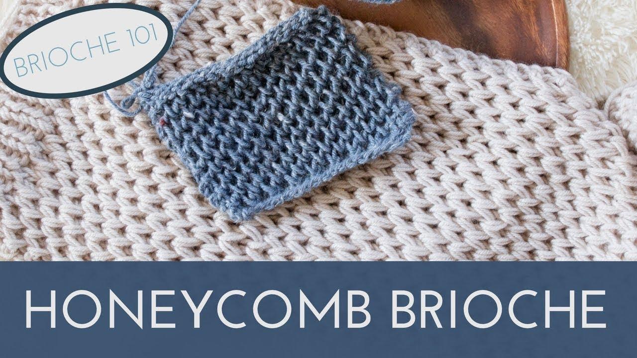 Honeycomb Brioche Knit Stitch Pattern || Waffle Knit Stitch